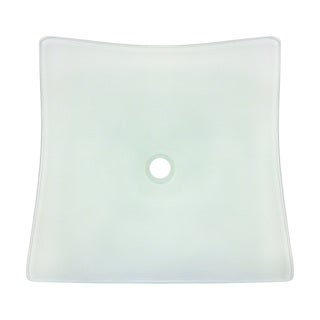 Polaris Sinks Blue Foil Frosted Glass Vessel Bathroom Sink