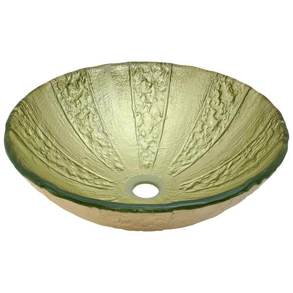 Overstock Vessel Sinks : Polaris-Sinks-Gold-Foiled-Glass-Vessel-Bathroom-Sink-70136c44-3970 ...