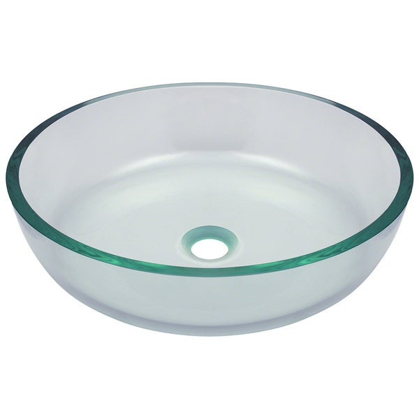 Polaris Sinks Clear Glass Vessel Bathroom Sink
