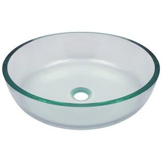 Polaris Sinks Clear Glass Vessel Bathroom Sink