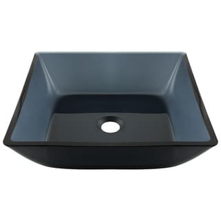 Polaris Sinks Black Square Vessel Bathroom Sink