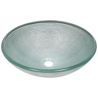 Polaris Sinks P636 Iridescent Foil Underlay Glass Vessel Sink