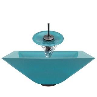 Polaris Sinks Turquoise/ Oil-rubbed Bronze 4-piece Bathroom Sink Ensemble