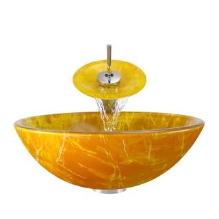 Polaris Sinks Goldtone and Yellow/ Chrome 4-piece Bathroom Ensemble
