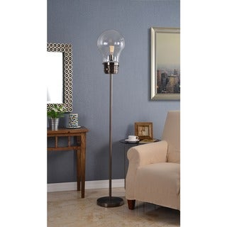 Carbon Loft Antique Brass Morgan Floor Lamp