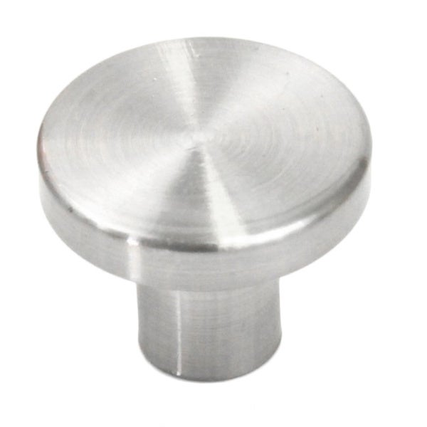 Aluminum 1-inch Round Cabinet and Drawer Knobs (Case of 5)