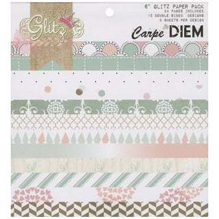 "Carpe Diem Paper Pad 6""X6"" 24/Sheets-12 Double-Sided Designs/2 Each"