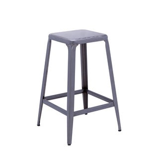 Sunpan Cannon Galvanized Steel Counter Stool (Set of 2)