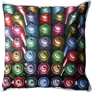 Maxwell Dickson Spray Can 18-inch Velour Throw Pillow