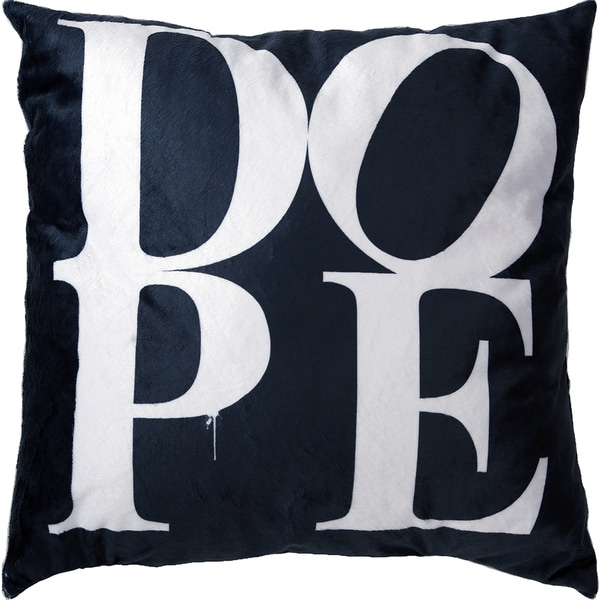 Maxwell Dickson Dope Black Velour Throw Pillow