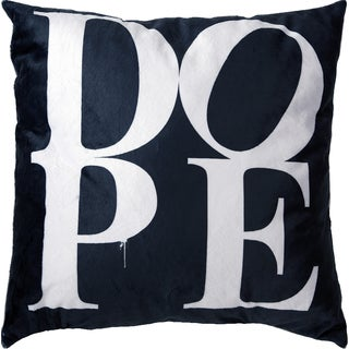 Maxwell Dickson Dope Black 18-inch Velour Throw Pillow
