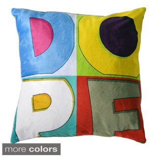 Dope Colors 18-inch Velour Throw Pillow