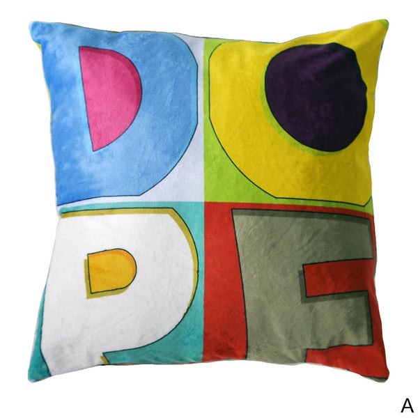 Dope Colors Velour Throw Pillow