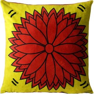 Maxwell Dickson Flower Power Velour Throw Pillow