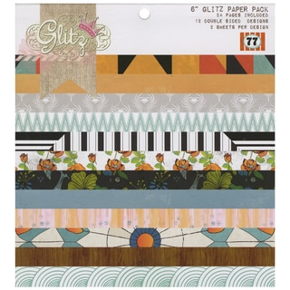 "77 Paper Pad 6""X6"" 24/Sheets-12 Double-Sided Designs/2 Each"