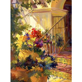 Betty Carr 'Come On In' Gallery Wrapped Canvas Art