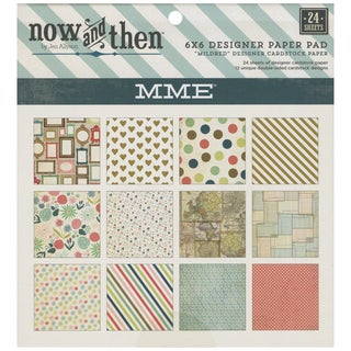 "Now & Then Mildred Paper Pad 6""X6"" 24/Sheets-Double-Sided"