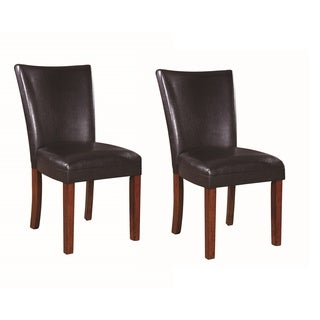 Nessa Dark Brown Dining Chairs (Set of 2)