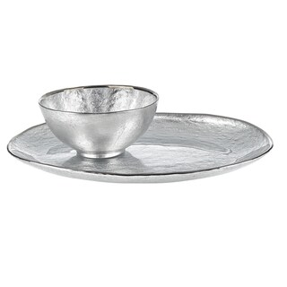 Glamour Silver 2-piece Chip and Dip Set