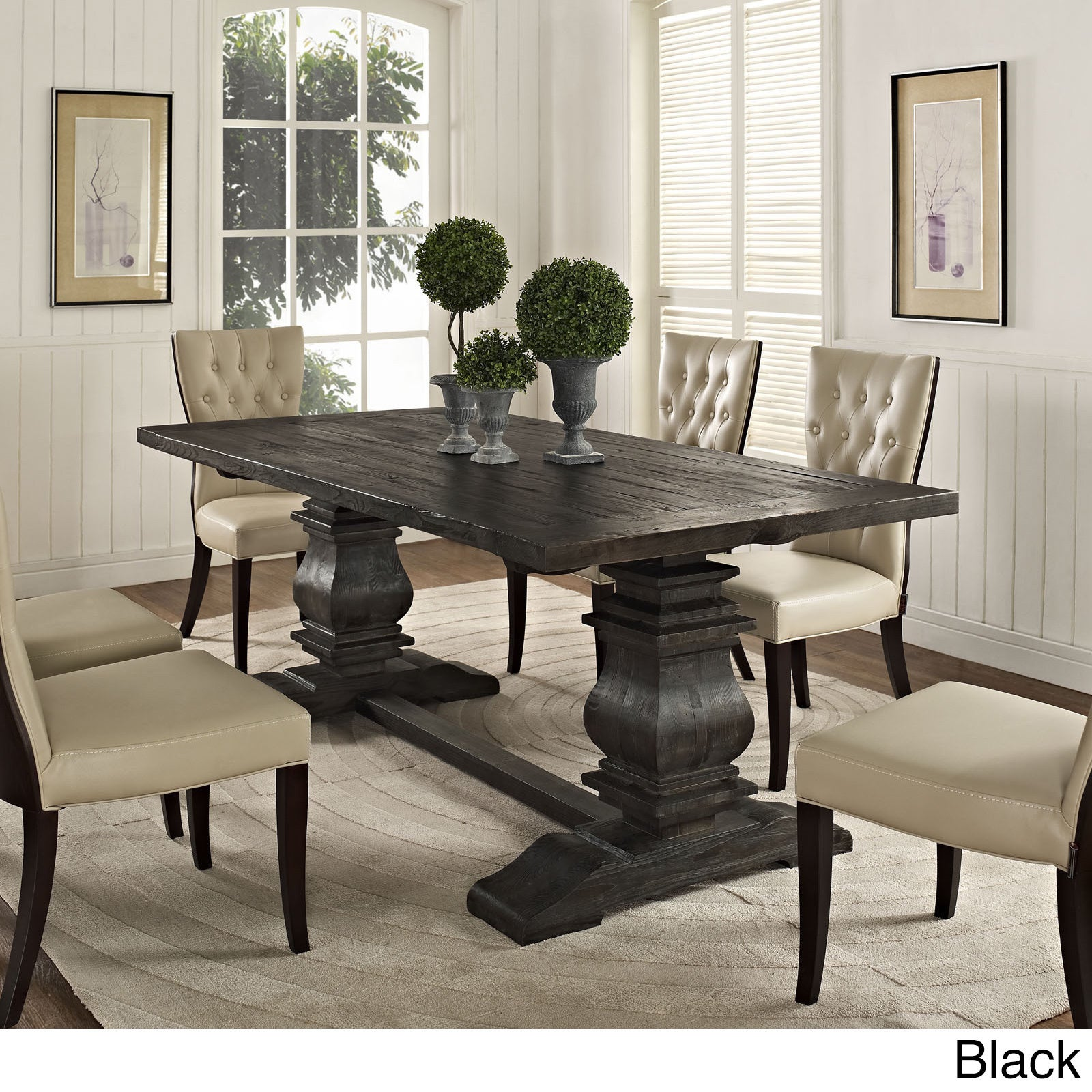 column wood dining table overstock shopping great deals on modway