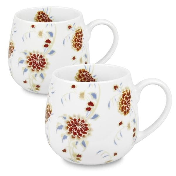 Konitz 'Beautiful She Says' Floral Snuggle Mug (Set of 2)