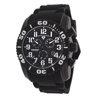 Swiss Legend Men's Titainium Black Strap Watch