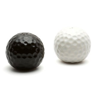Red Vanilla Opposites Golf Ball Salt and Pepper Set