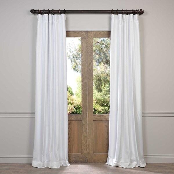 Faux Silk Taffeta Solid Blackout Curtain Panel