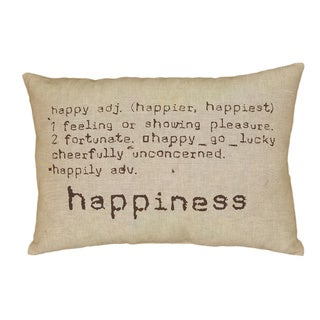 LNR Home Happiness Natural Tan 16 x 24 Accent Pillow