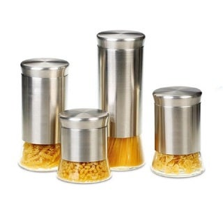 Flairs Stainless Steel 4-piece Canister Set