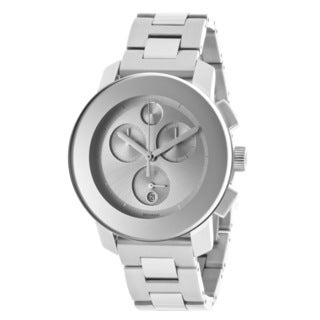 Movado Bold 3600077 Silvertone Dial Chronograph Stainless Steel Watch
