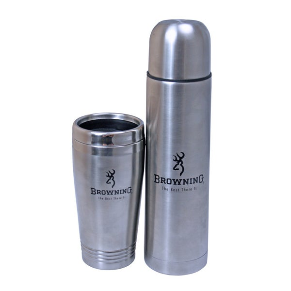 Browning Thermos and Mug Set .75L Thermos .45L Mug