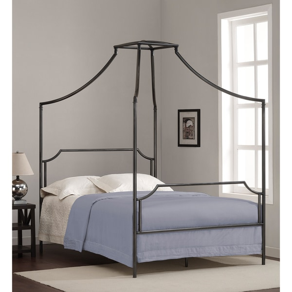 This Beautiful Bailey Full Size Canopy Bed Features A