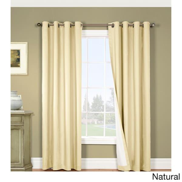 Four Seasons Backout Magnetic Grommet Top Curtain Panel Pair