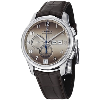Zenith Men's 03.2072.4054.18C'Class Winsor Annual Calendar' Brown Dial Brown Leather Strap Watch