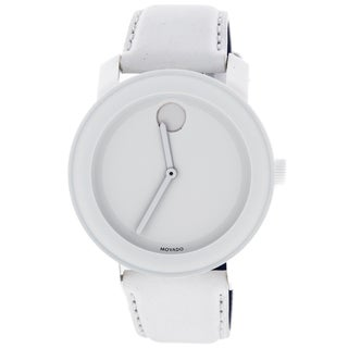 Movado Bold 3600024 White Dial Leather Watch