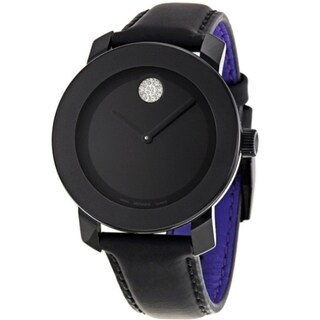 Movado Bold Women's 3600066 Black Dial Crystal Marker Watch