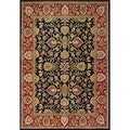 Alliyah Handmade Black Persian Design New Zealand Wool Rug (10' x 14')