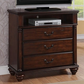 Duval 3-drawer Distressed Mahogany Media Chest