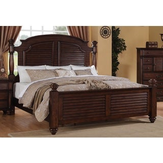 Duval Distressed Mahogany Post Bed
