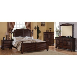 Duval 5-piece Distressed Mahogany Bedroom Set