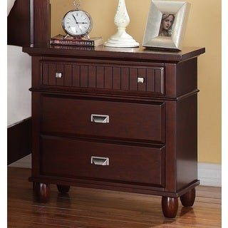 Sutton 3-drawer Rich Cherry Nightstand