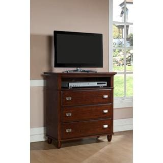 Sutton 3-drawer Rich Cherry Media Chest