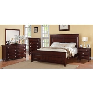 Sutton 5-piece Rich Cherry Bedroom Set