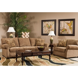 Julian Light Brown 2-piece Sofa Set