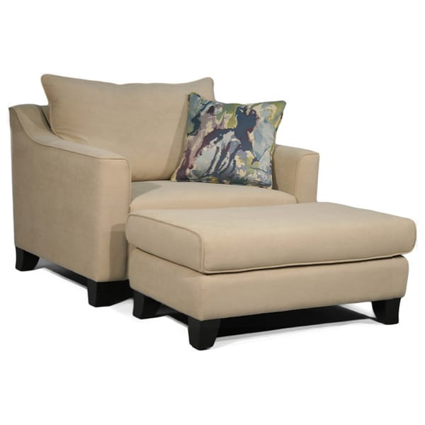 Fairmont Designs Made To Order Kent Cream Chair and Ottoman Set Overstock™