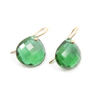 Sitara Goldplated Emerald Quartz Drop Earrings (India)