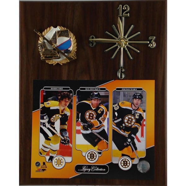 NHL Legacy Boston Bruins Clock