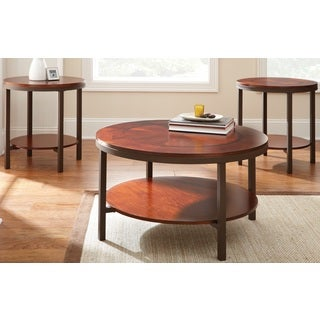 Taryn Brown Cherry Occasional Tables (Set of 3)