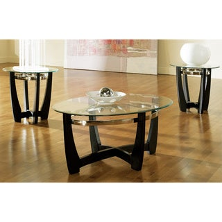 Mandalay Glass Top Occasional Tables (Pack of 3)